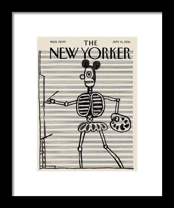 Mouse Framed Print featuring the painting Untitled, Circa 1967 by Saul Steinberg