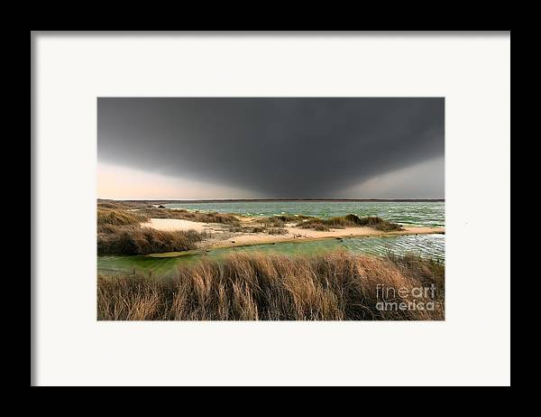 Outer Banks Framed Print featuring the photograph A Storm A Coming - Outer Banks I by Dan Carmichael
