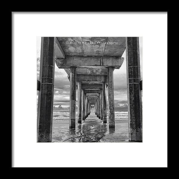 Framed Print featuring the photograph A Stormy Day In San Diego At The by Larry Marshall