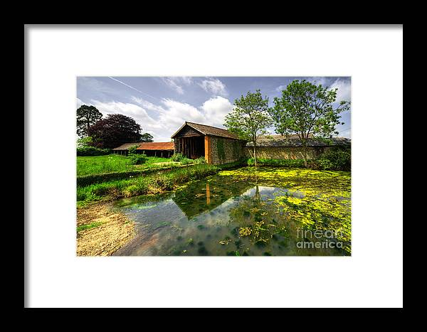 Suffolk Barn Framed Print featuring the photograph a Suffolk Barn by Rob Hawkins