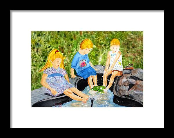 A Summers Day Framed Print featuring the painting A Summers Day by Arlene Wright-Correll