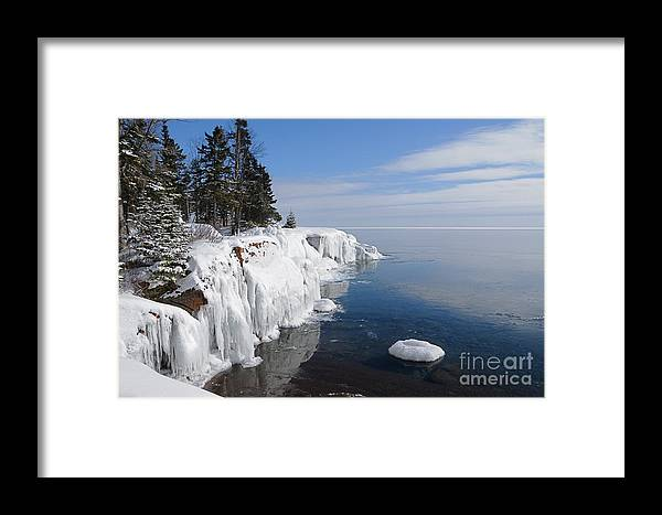 North Shore Framed Print featuring the photograph A Superior Winter Day #2 by Sandra Updyke