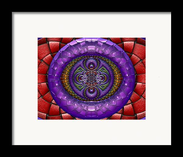 Abstract Framed Print featuring the digital art A Tactual Enterprise by Wendy J St Christopher