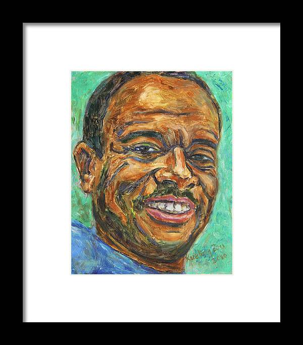 African American Framed Print featuring the painting A Teacher From Atlanta Ga by Xueling Zou