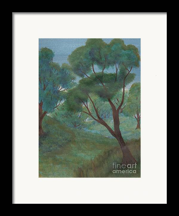Watercolor Framed Print featuring the painting A Thought Of Summer by Robert Meszaros
