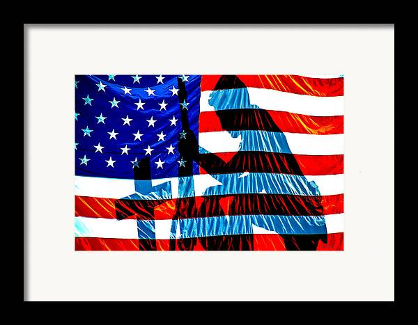 Patriotic Framed Print featuring the photograph A Time To Remember by Bob Orsillo