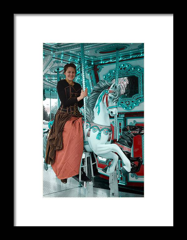 Steam Punk Framed Print featuring the digital art A Tint Of Teal by Teri Schuster