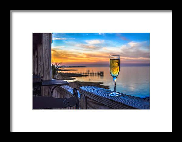 Water Framed Print featuring the photograph A Toast by Salt Spray Photography