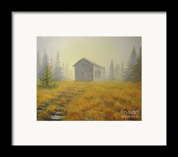 Art Framed Print featuring the painting A Touch Of Faith by Kiril Stanchev
