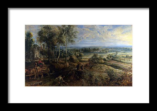 Peter Paul Rubens Framed Print featuring the digital art A View Of Het Steen In The Early Morning by Peter Paul Rubens