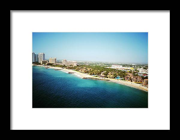 Aerial Framed Print featuring the photograph A View Upon Los Tules by Natasha Marco