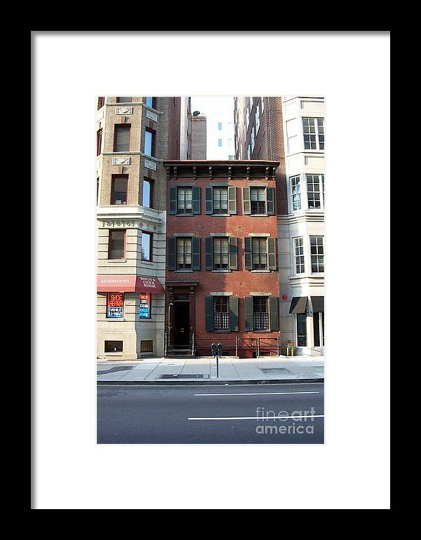 Buildings Framed Print featuring the photograph The Alibi Club by Walter Oliver Neal