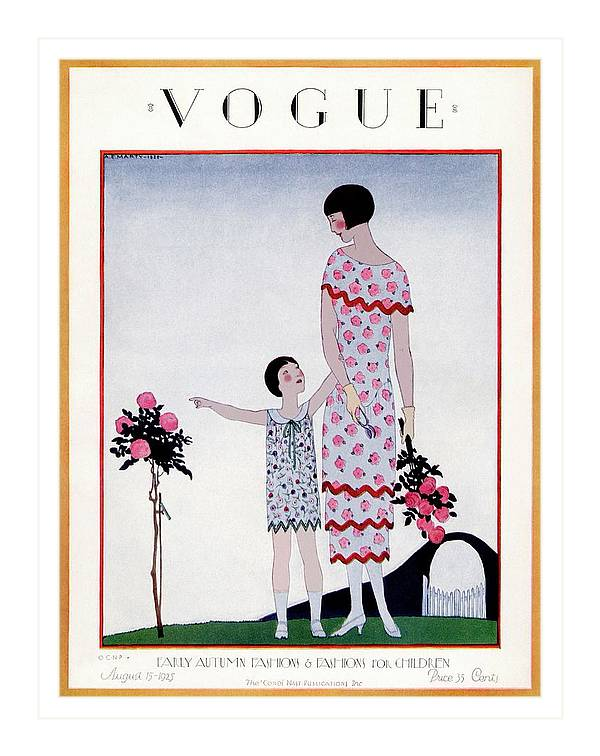 A Vintage Vogue Magazine Cover Of A Child by Andre E Marty