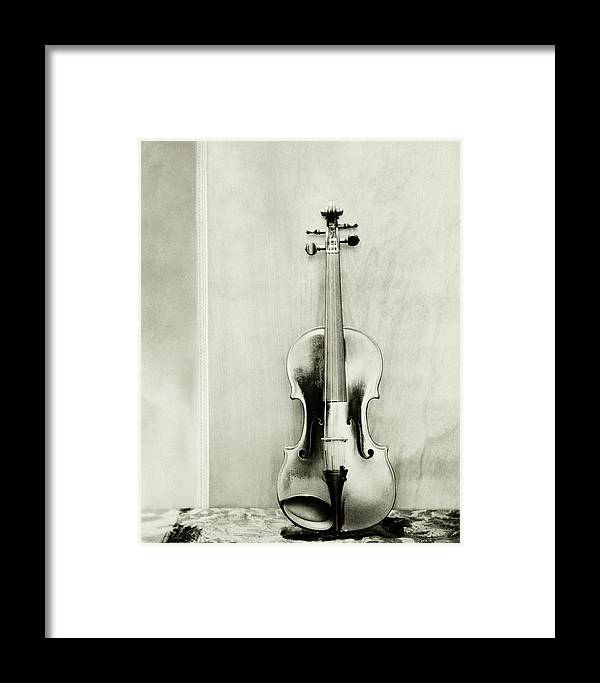 Studio Shot Framed Print featuring the photograph A Violin by Edward Steichen