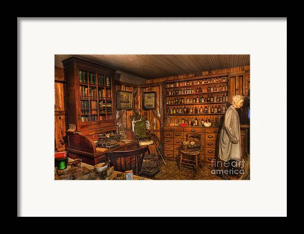 Alchemist Framed Print featuring the photograph A Visit To The Doctor's Office - Old Time Physician Office - Doctors - Pharmacists - Opticians by Lee Dos Santos