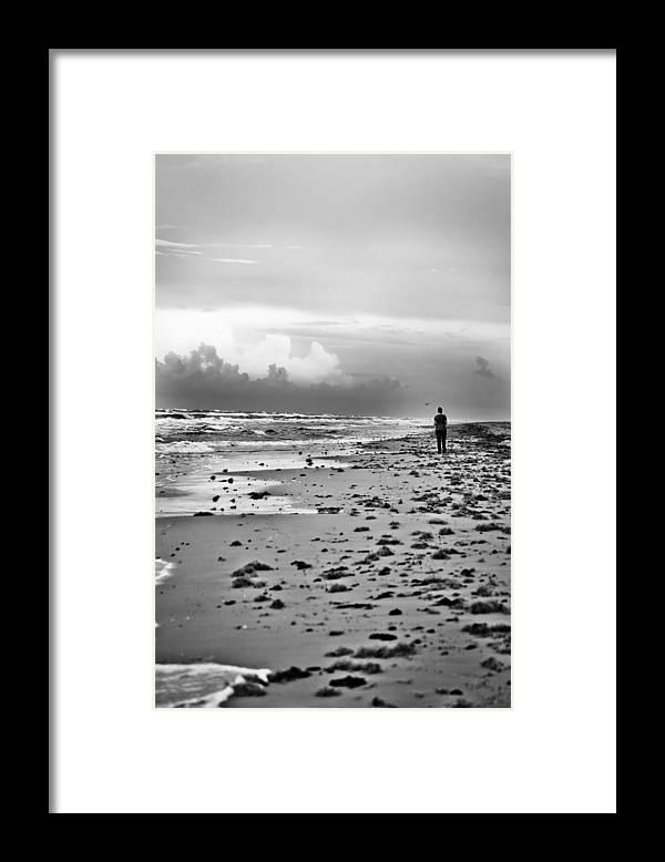 Beach Framed Print featuring the photograph A Walk At Dusk by Debbie Karnes