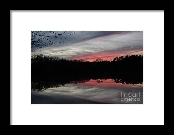 Sunset Framed Print featuring the photograph A Christmas Winter Sunset by Donna Brown