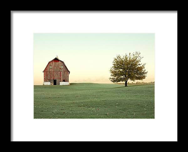 Barn Framed Print featuring the photograph A Wisconsin Postcard by Todd Klassy