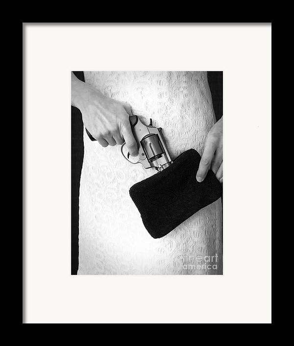 Purse Framed Print featuring the photograph A Woman Scorned by Edward Fielding