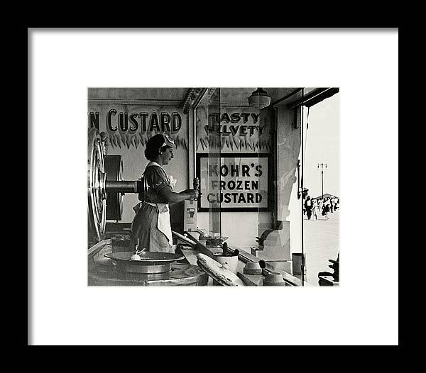 Cityscape Framed Print featuring the photograph A Woman Selling Custard by Lusha Nelson