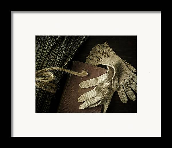 Glove Framed Print featuring the photograph A Woman's Touch by Amy Weiss