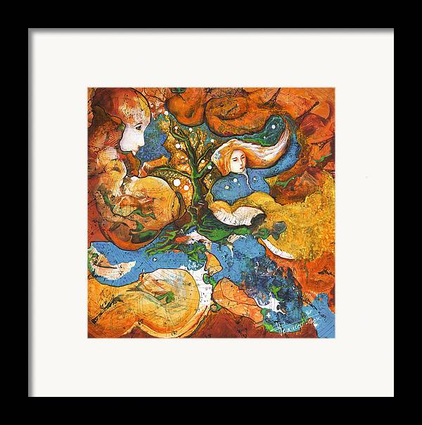 Earth Framed Print featuring the painting A World Apart by Valerie Graniou-Cook