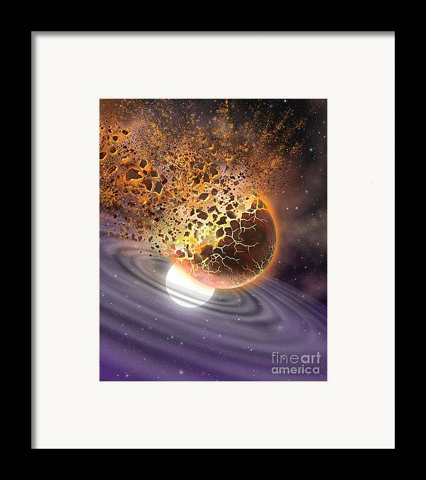 lynette Cook Framed Print featuring the painting A World Ripped Apart by Lynette Cook