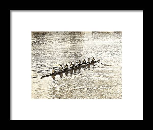 Abstract Framed Print featuring the photograph A2230192 Regatta by David Fabian
