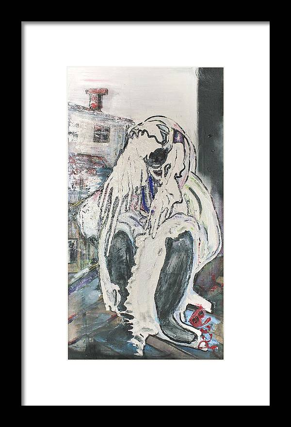 Figurative Framed Print featuring the painting Aasimah by Peggy Blood