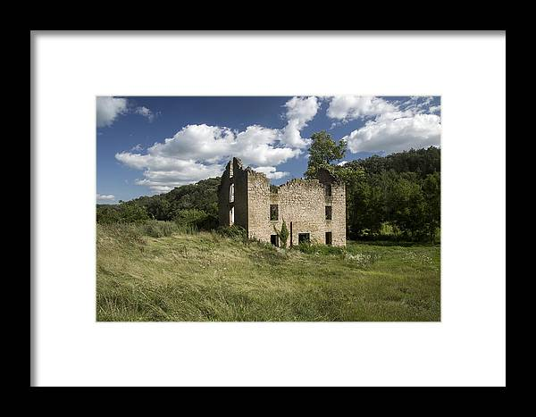 House Framed Print featuring the photograph Abandon Stone House 4 by Gerald Marella
