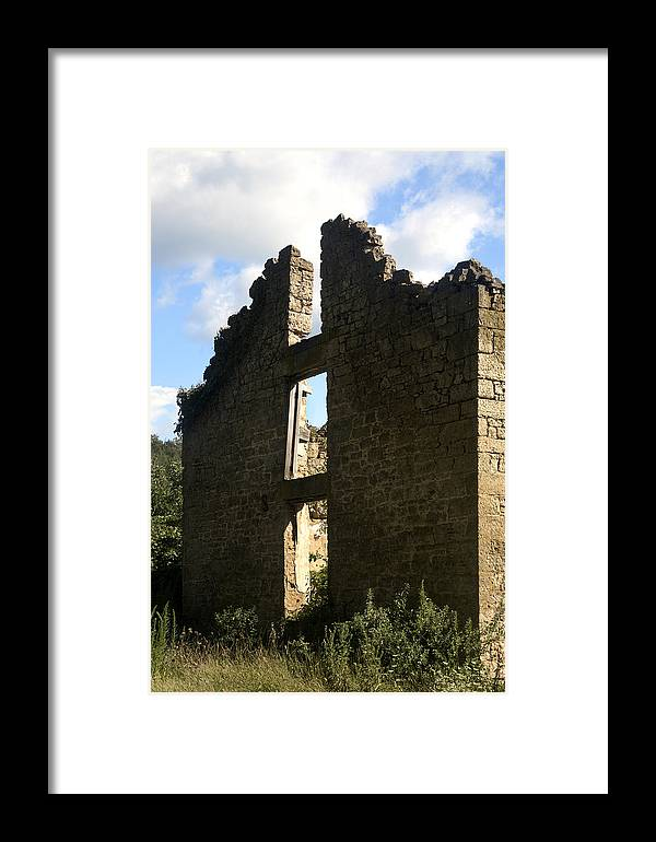 House Framed Print featuring the photograph Abandon Stone House 5 by Gerald Marella