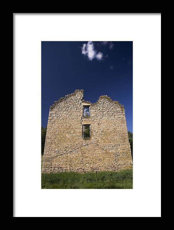 House Framed Print featuring the photograph Abandon Stone House 6 by Gerald Marella