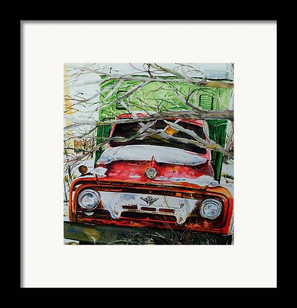 Truck Framed Print featuring the painting Abandoned Delivery by Scott Nelson
