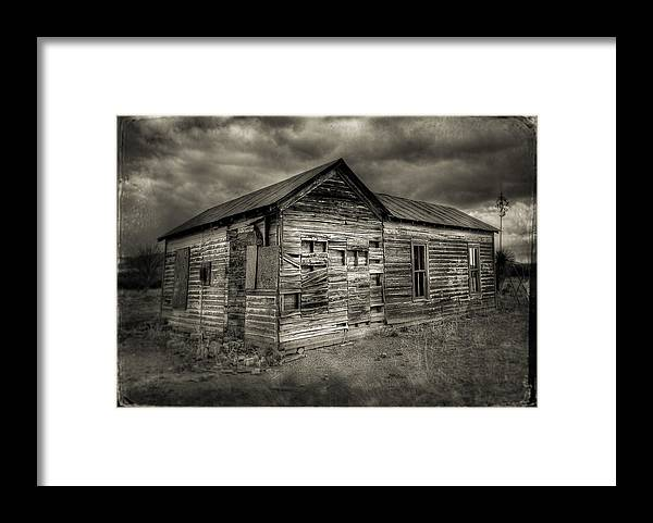 Rustic Framed Print featuring the photograph Abandoned Home by John Forrey