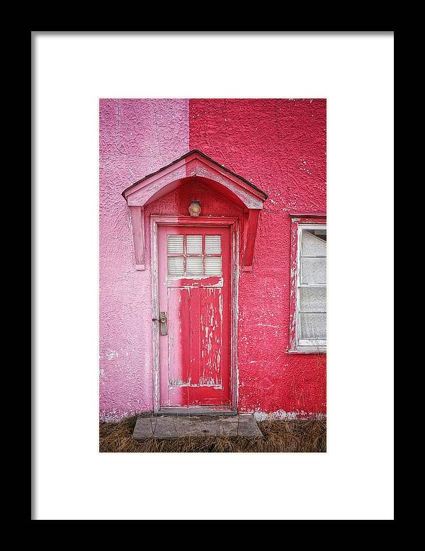 Built Structure Framed Print featuring the photograph Abandoned Pink And Red House by Stan Strange / Eyeem