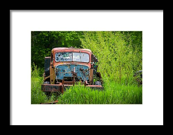 3scape Photos Framed Print featuring the photograph Abandoned Truck In Rural Michigan by Adam Romanowicz