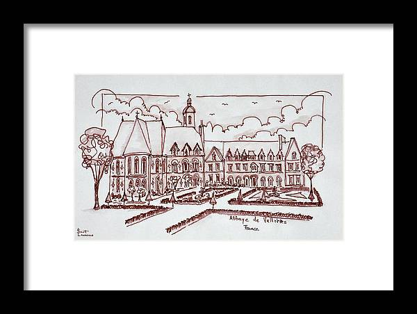 Abbaye De Valloires Framed Print featuring the photograph Abbaye De Valloires, Argoules, France by Richard Lawrence
