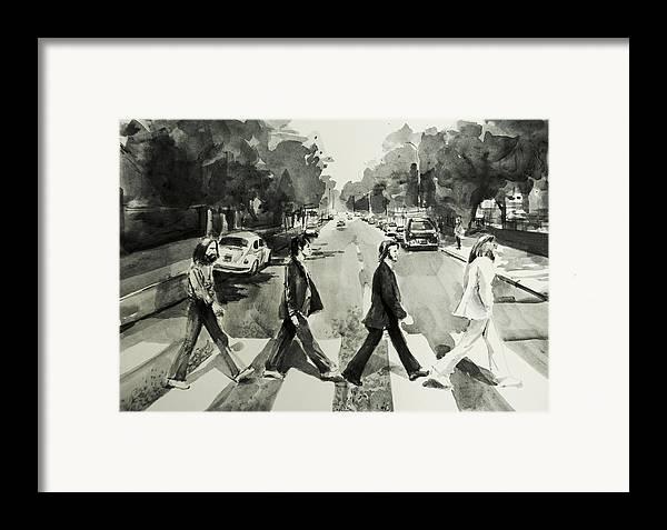 Abbey Road Framed Print By Bekim Art