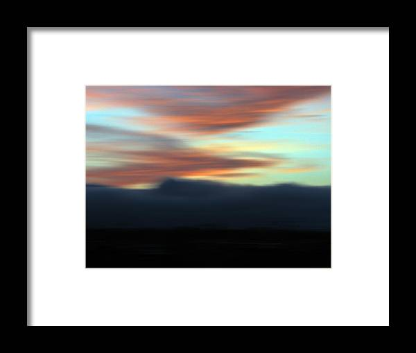 Sunset Framed Print featuring the photograph Ablaze by Liz Hill