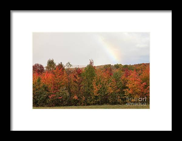 Rainbow Framed Print featuring the photograph Above And Below by Charles Kozierok