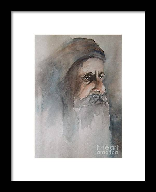 Abraham Framed Print featuring the painting Abraham by Annemeet Hasidi- van der Leij
