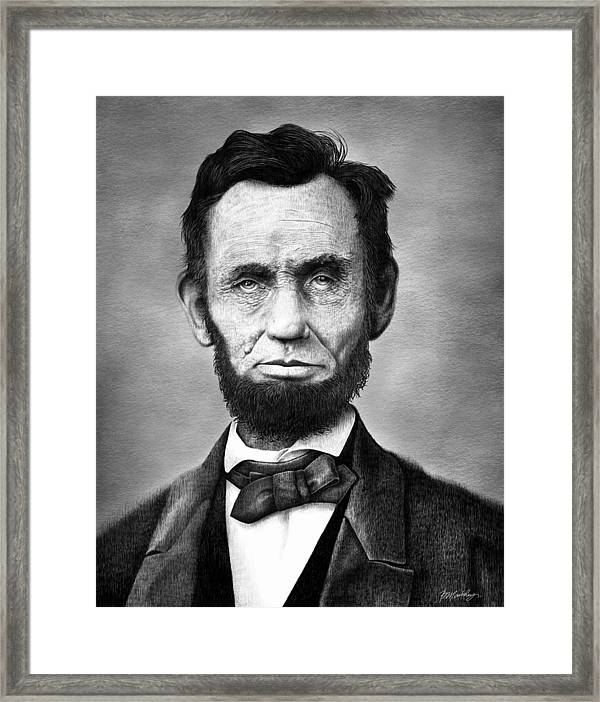 photograph about Printable Pictures of Abraham Lincoln identified as Abraham Lincoln Framed Print