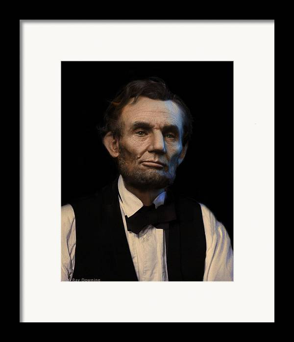 Abraham Lincoln Framed Print featuring the digital art Abraham Lincoln Portrait by Ray Downing