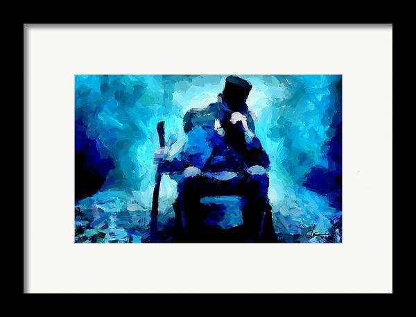 Abraham Lincoln Framed Print featuring the digital art Abraham Lincoln Tnm by Vincent DiNovici