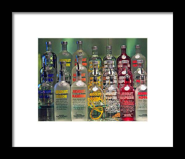 Absolute Vodka Framed Print featuring the photograph Absolutely by John Hoey
