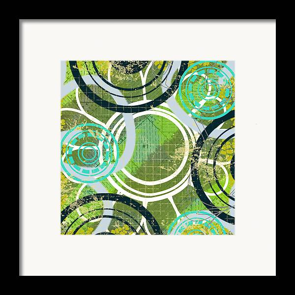 Digital Painting Framed Print featuring the digital art Abstract 1 by Lisa Noneman