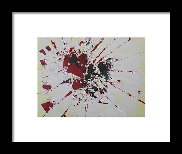 Abstract Framed Print featuring the painting Abstract 111 by Dotti Hannum