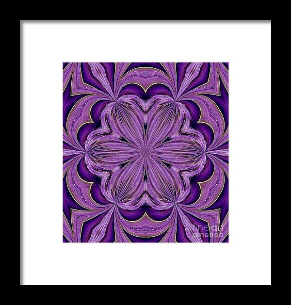 Abstract 129 Framed Print featuring the digital art Abstract 129 by Maria Urso