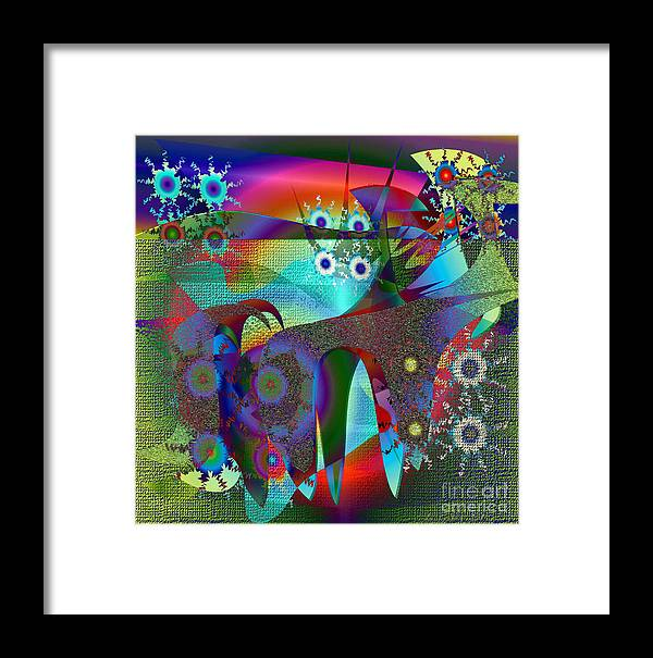 Abstract Framed Print featuring the digital art Abstract 13 by Iris Gelbart