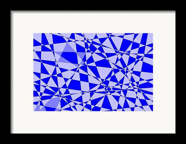 Original Framed Print featuring the digital art Abstract 151 by J D Owen